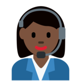 Woman Office Worker: Dark Skin Tone on Twitter Twemoji 2.2.3