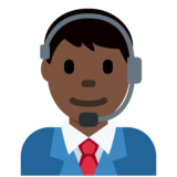 Man Office Worker: Dark Skin Tone on Twitter Twemoji 2.2.3