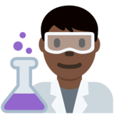Man Scientist: Dark Skin Tone on Twitter Twemoji 2.2.3