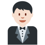 Man in Tuxedo: Light Skin Tone on Twitter Twemoji 2.2.3