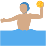 Man Playing Water Polo: Medium Skin Tone on Twitter Twemoji 2.2.3