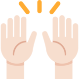 Raising Hands: Light Skin Tone on Twitter Twemoji 2.2.3