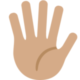 Hand With Fingers Splayed: Medium Skin Tone on Twitter Twemoji 2.2.3