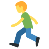 Person Running on Twitter Twemoji 2.2.3