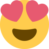Smiling Face With Heart-Eyes on Twitter Twemoji 2.2.3