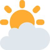 Sun Behind Cloud on Twitter Twemoji 2.2.3