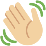Waving Hand: Medium-Light Skin Tone on Twitter Twemoji 2.2.3
