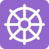 Wheel of Dharma on Twitter Twemoji 2.2.3