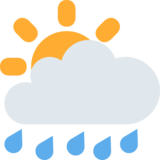 Sun Behind Rain Cloud on Twitter Twemoji 2.2.3