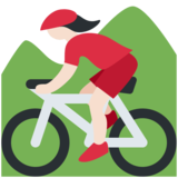 Woman Mountain Biking: Light Skin Tone on Twitter Twemoji 2.2.3