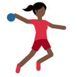 Woman Playing Handball: Dark Skin Tone on Twitter Twemoji 2.2.3