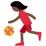 Woman Bouncing Ball: Dark Skin Tone on Twitter Twemoji 2.2.3