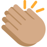 Clapping Hands: Medium Skin Tone on Twitter Twemoji 2.2.2
