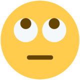 Face with Rolling Eyes on Twitter Twemoji 2.2.2