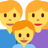 Family: Man, Woman, Boy on Twitter Twemoji 2.2.2