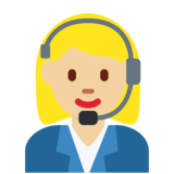 Woman Office Worker: Medium-Light Skin Tone on Twitter Twemoji 2.2.2