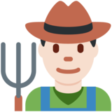 Man Farmer: Light Skin Tone on Twitter Twemoji 2.2.2