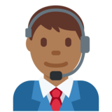 Man Office Worker: Medium-Dark Skin Tone on Twitter Twemoji 2.2.2