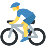 Man Biking on Twitter Twemoji 2.2.2