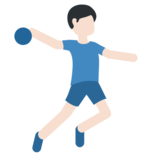 Man Playing Handball: Light Skin Tone on Twitter Twemoji 2.2.2