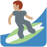 Man Surfing: Medium Skin Tone on Twitter Twemoji 2.2.2