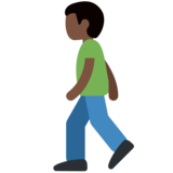 Man Walking: Dark Skin Tone on Twitter Twemoji 2.2.2