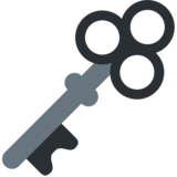 Old Key on Twitter Twemoji 2.2.2
