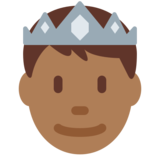 Prince: Medium-Dark Skin Tone on Twitter Twemoji 2.2.2