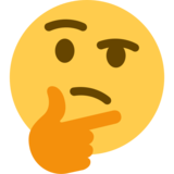 Thinking Face on Twitter Twemoji 2.2.2