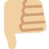 Thumbs Down: Medium-Light Skin Tone on Twitter Twemoji 2.2.2