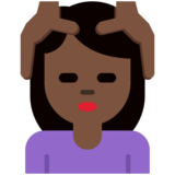 Woman Getting Massage: Dark Skin Tone on Twitter Twemoji 2.2.2