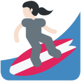 Woman Surfing: Light Skin Tone on Twitter Twemoji 2.2.2