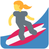Woman Surfing on Twitter Twemoji 2.2.2