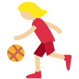 Woman Bouncing Ball: Medium-Light Skin Tone on Twitter Twemoji 2.2.2
