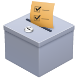 Ballot Box With Ballot on WhatsApp 2.19.244