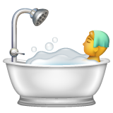 Person Taking Bath on WhatsApp 2.19.244