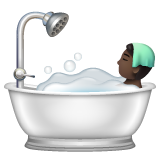 Person Taking Bath: Dark Skin Tone on WhatsApp 2.19.244