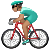 Person Biking: Medium Skin Tone on WhatsApp 2.19.244