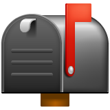 Closed Mailbox With Raised Flag on WhatsApp 2.19.244