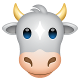 Cow Face on WhatsApp 2.19.244
