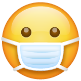 Face with Medical Mask on WhatsApp 2.19.244