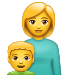 Family: Woman, Boy on WhatsApp 2.19.244
