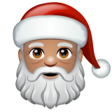 Santa Claus: Medium Skin Tone on WhatsApp 2.19.244