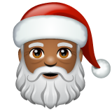 Santa Claus: Medium-Dark Skin Tone on WhatsApp 2.19.244