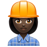 Woman Construction Worker: Dark Skin Tone on WhatsApp 2.19.244