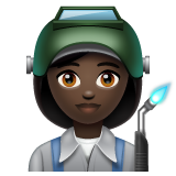 Woman Factory Worker: Dark Skin Tone on WhatsApp 2.19.244