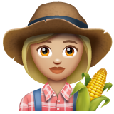 Woman Farmer: Medium-Light Skin Tone on WhatsApp 2.19.244