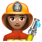 Woman Firefighter: Medium Skin Tone on WhatsApp 2.19.244