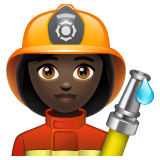 Woman Firefighter: Dark Skin Tone on WhatsApp 2.19.244