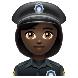 Woman Police Officer: Dark Skin Tone on WhatsApp 2.19.244